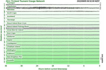 De-tided Tsunami Gauge Chart